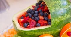 Baby Shower fruit tray carriage | Baby shower ideas