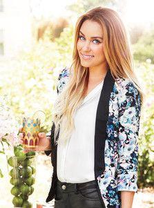 Womens LC Lauren Conrad Cream Black Multi Floral Print Open Front Tuxedo Blazer | eBay