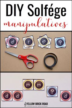 Free printable and tutorial on how to make magnetic Solfége manipulatives. These would come in handy daily in the elementary music classroom!