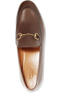 Gucci - Jordaan Leather Loafers - Chocolate - IT35.5