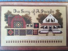 Told in A Garden Song of A People Cross Stitch Chart Pattern Amish Quilt | eBay