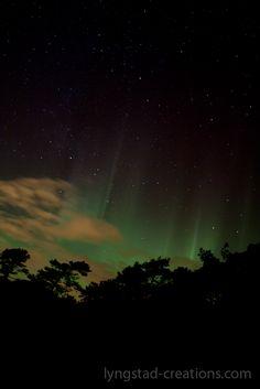 Northern lights over Molde, Norway ( aurora borealis)