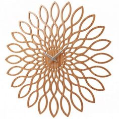 Buy Karlsson Wood Sunflower Clock from our Wall Clocks range at Red Candy, home of quirky decor.