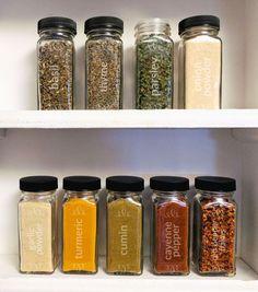 Kitchen Jars Ikea Renovation Ideas 108 Best Spice Images Design Shelf Set Of 10 4oz Laser Etched Bottle And Jar Glass