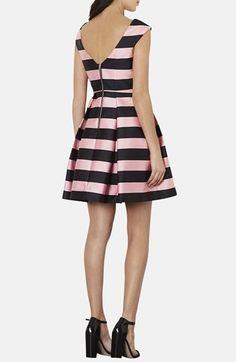 Stripe Satin Fit & Flare Dress  http://rstyle.me/n/d6f3mnyg6