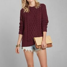 Womens Cable Knit Sweater | Womens New Arrivals | Abercrombie.com