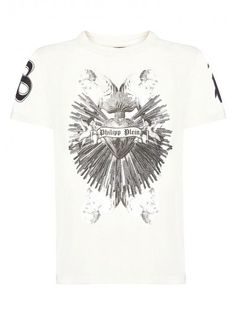 Philipp Plein - 'Bright Heart' T-Shirt White | Beautiful tee with PHILIPP PLEIN heart surrounded by thunders. Wear this powerful t-shirt to give a strong attitude to your casual outfit.