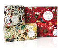 Never a fan of fruit cake or mince pie, but I am willing to pay just for the gorgeous packaging. From Crabtree & Evelyn.