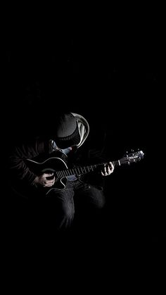 Out The Dark Guitar Player Music iPhone 8 Wallpapers