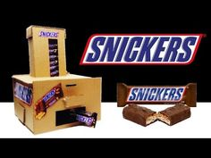 How to Make Snickers Vending Machine DIY - YouTube Vending Machine Diy, Lego Projects, Cardboard Crafts, Crafts To Do, Craft Videos, More Fun, Candy, Make It Yourself, Youtube