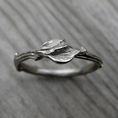 Hey, I found this really awesome Etsy listing at https://www.etsy.com/listing/206220443/twig-wedding-band-with-leaves-white