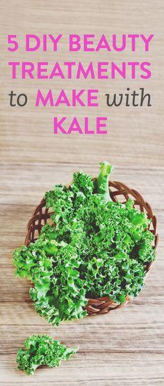 5 DIY kale beauty treatments // via@bustledotcom