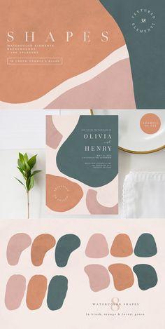 Colour Pallette, Colour Schemes, Color Trends, Palette, Abstract Shapes, Grafik Design, Presentation Design, Instagram Design, Color Inspiration