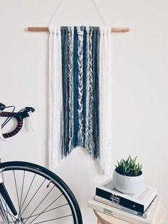 """Indigo"" Boho Braided Wall Tapestry"