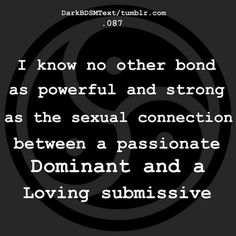 Passionate Dominant and a Loving submissive