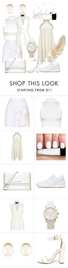 """""""Clearing out the white before Labor Day!!"""" by brittneynboyd ❤ liked on Polyvore featuring Zimmermann, WearAll, Lipsy, MICHAEL Michael Kors, New Balance, River Island, Michael Kors, Kenneth Jay Lane and Liliana"""