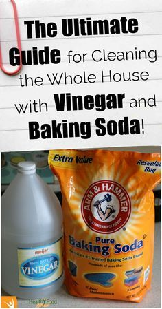Are you planing to clean the house? You can do almost anything with white vinegar and baking soda!