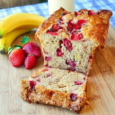 Strawberry Banana Bread - Rock Recipes