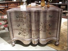 Silver leaf dresser with Queen Anne's Lace.... LOVE