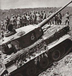 Top officials and officers at a presentation a the new Tiger 1 Ausf E