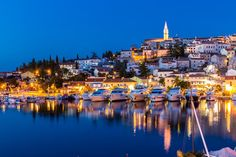 Vrsar Port And Village After Sunset-Istria,Croatia