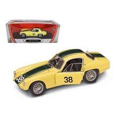 1960 lotus elite 38 yellow 118 diecast car by road signature