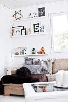 Shelves next to window