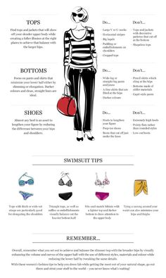 How to dress for your body shape : Pear Shaped Via