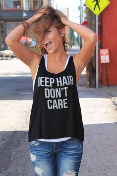 JEEP HAIR DON'T CARE tank top