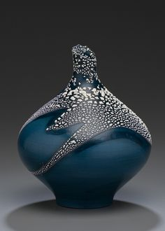 LOVE THIS! Created 2006:Earthenware: Terra Sigillata, Crawl glaze, Oxidation