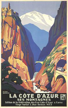 FRANCE - La Côte d'Azur / Ses Montagnes. ca. 1930 #Vintage #Travel