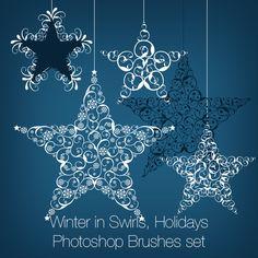 Winter in Swirls, Holidays Photoshop Brushes set  http://graphics-illustrations.com/product/photoshop-brushes/winter-in-swirls-holidays-photoshop-brushes-set/