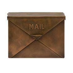 $50!!!!  I want on my wall....Tauba Copper Mail Box Imax Wall Mounted Mailboxes Outdoor