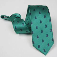 Corbata Verde con dibujos Sevillanas