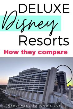 Deluxe Disney resorts - find out how these hotels compare! These are the nicest hotels at Walt Disney World in Orlando Florida & include Polynesian Village, Contemporary Resort, Beach Club, Wilderness Lodge, Grand Floridian & more. Learn which one is best when it comes to things like monorail access, character dining, boat transportation, recreational activities, pool with lazy river & more. Disney World travel advice for your next family vacation. #WaltDisneyWorld #DeluxeDisneyResorts… Disney World Hotels, Walt Disney World Vacations, Disney Resorts, Hotels And Resorts, Best Hotels, Orlando Theme Parks, Orlando Florida, Hotel Comparison, Disney World With Toddlers