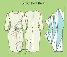 Jersey Twists are the first patterns we make in our Drape Dresses workshop…