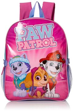 PAW PATROL BACKPACK School Book Bag COOL PUPS Nickelodeon Authentic New With Tag