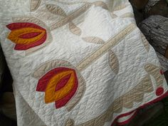 Antique 19th Century Applique Quilt Hand Made by FairchildsInc, $485.00