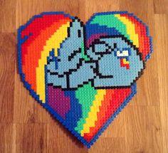 MLP Sleeping Rainbow Dash hama beads by Kay Gibson