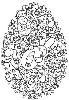 Coloring picture Easter eggs Paseneier on Kids-n-Fun. On Kids-n-Fun you will find . - Easter egg coloring page Kids-n-Fun.de, On Kids-n-Fun you will always find the best coloring pages - Easter Egg Coloring Pages, Colouring Pages, Coloring Pages For Kids, Coloring Books, Free Coloring, Easter Art, Easter Crafts, Easter Bunny, Easter Printables