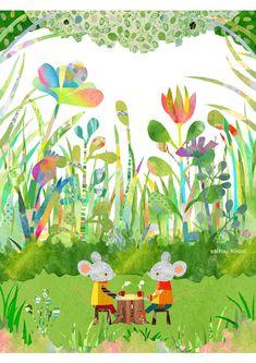 bellasecretgarden: kiyomi saitou(via Pin by Weranuch Tt on Children's Book Illustration, Graphic Design Illustration, School Murals, You Draw, Illustrations And Posters, Botanical Prints, Clipart, Art For Kids, Drawings