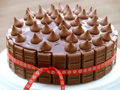 Best Yellow Birthday Cake with Chocolate Icing whole