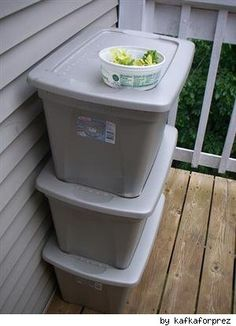 Composting with DIY worm compost bin