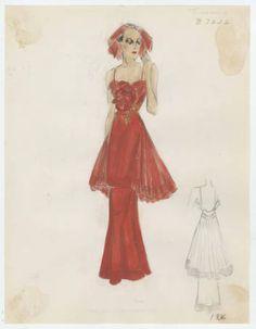 Mooring 1930-1936. Bergdorf Goodman Sketches, 1929-1952. The Metropolitan Museum of Art, New York. Costume Institute (b17508952) #fashion