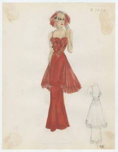 Mooring 1930-1936. Bergdorf Goodman Sketches, 1929-1952. The Metropolitan Museum of Art, New York. Costume Institute (b17508952) #fashion
