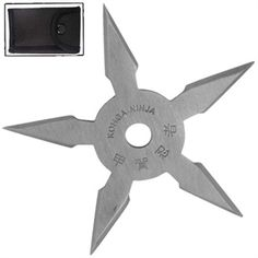 Enjoy hours of fun outdoors and indoors with this sure stick Khoga Ninja Five Point Throwing Star. They are very thick and sturdy and are made from a satin finish 440 stainless steel. Throwing Cards, Ninja Gear, Hidden Blade, Ninja Weapons, Five Points, Shuriken, Throwing Knives, Katana, Wedge Shoes