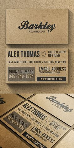 Kraft Business Cards - Susanne Mueller - Kraft Business Cards These clean, simple business cards are a great option to make a great impression! Show your love to the environment with kraft business cards! Corporate Design, Business Design, Business Card Design Inspiration, Corporate Gifts, Business Cards Layout, Simple Business Cards, Vintage Business Cards, Cool Business Ideas, Creative Business Cards