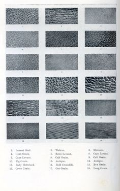 types of leather with pictures - Google Search