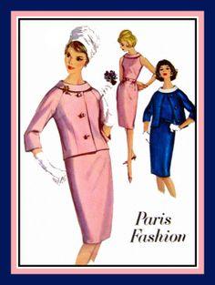 Vintage 1964PARIS FASHION Jacket Wiggle by FarfallaDesignStudio, $10.00