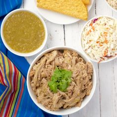 Tender, flavorful shredded pork with salsa verde is great for tacos, rice bowls, nachos – any of your favorites!